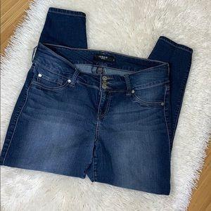 Torrid Plus Size Stretch Skinny Ankle Jeans 16S